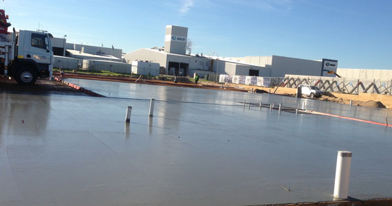 We can pour commercial concrete pads in Perth